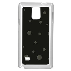 Gray Bubbles Samsung Galaxy Note 4 Case (white) by Valentinaart