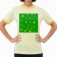 Yellow Bubbles Women s Fitted Ringer T-shirts by Valentinaart