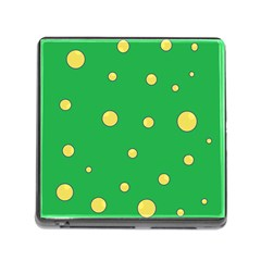Yellow Bubbles Memory Card Reader (square)