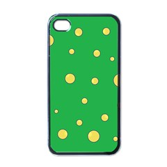 Yellow Bubbles Apple Iphone 4 Case (black)