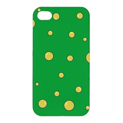 Yellow Bubbles Apple Iphone 4/4s Premium Hardshell Case by Valentinaart