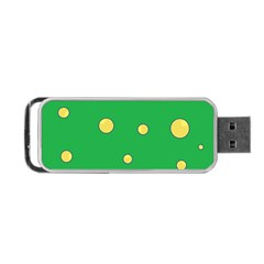 Yellow Bubbles Portable Usb Flash (two Sides) by Valentinaart