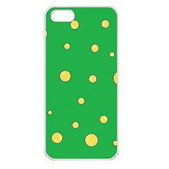 Yellow Bubbles Apple Iphone 5 Seamless Case (white) by Valentinaart