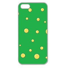 Yellow Bubbles Apple Seamless Iphone 5 Case (clear) by Valentinaart