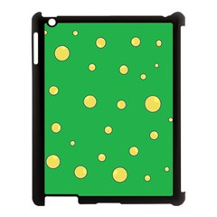 Yellow Bubbles Apple Ipad 3/4 Case (black) by Valentinaart