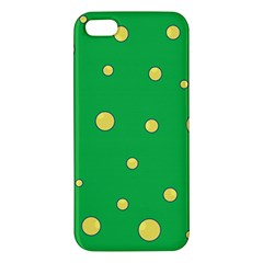Yellow Bubbles Iphone 5s/ Se Premium Hardshell Case by Valentinaart
