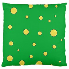 Yellow Bubbles Standard Flano Cushion Case (two Sides) by Valentinaart