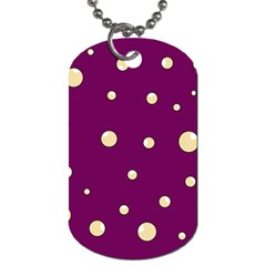 Purple And Yellow Bubbles Dog Tag (one Side) by Valentinaart