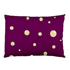 Purple And Yellow Bubbles Pillow Case by Valentinaart
