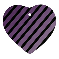 Purple Elegant Lines Ornament (heart)  by Valentinaart