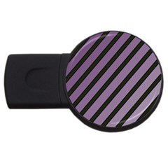 Purple Elegant Lines Usb Flash Drive Round (2 Gb)  by Valentinaart