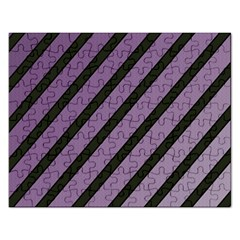 Purple Elegant Lines Rectangular Jigsaw Puzzl by Valentinaart