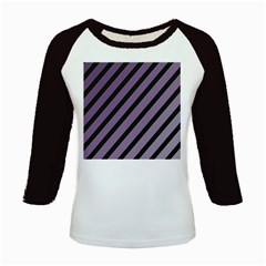 Purple Elegant Lines Kids Baseball Jerseys by Valentinaart