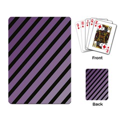 Purple Elegant Lines Playing Card by Valentinaart