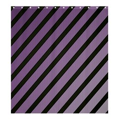 Purple Elegant Lines Shower Curtain 66  X 72  (large)  by Valentinaart