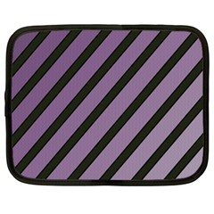 Purple Elegant Lines Netbook Case (xxl)