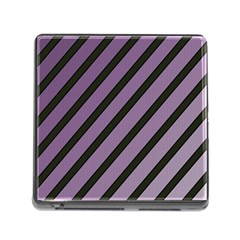 Purple Elegant Lines Memory Card Reader (square) by Valentinaart