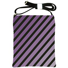 Purple Elegant Lines Shoulder Sling Bags