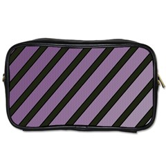 Purple Elegant Lines Toiletries Bags by Valentinaart