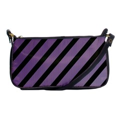 Purple Elegant Lines Shoulder Clutch Bags