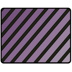 Purple Elegant Lines Fleece Blanket (medium)  by Valentinaart