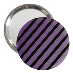 Purple Elegant Lines 3  Handbag Mirrors by Valentinaart