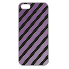 Purple Elegant Lines Apple Seamless Iphone 5 Case (clear) by Valentinaart