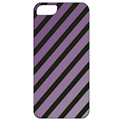 Purple Elegant Lines Apple Iphone 5 Classic Hardshell Case by Valentinaart