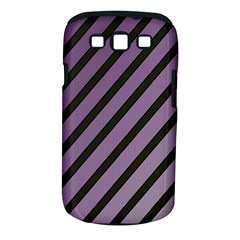 Purple Elegant Lines Samsung Galaxy S Iii Classic Hardshell Case (pc+silicone) by Valentinaart