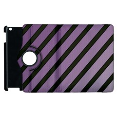 Purple Elegant Lines Apple Ipad 2 Flip 360 Case by Valentinaart