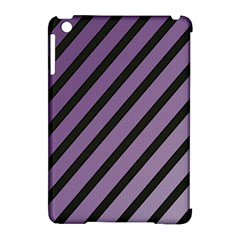 Purple Elegant Lines Apple Ipad Mini Hardshell Case (compatible With Smart Cover) by Valentinaart