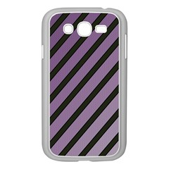 Purple Elegant Lines Samsung Galaxy Grand Duos I9082 Case (white) by Valentinaart