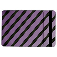 Purple Elegant Lines Ipad Air Flip by Valentinaart