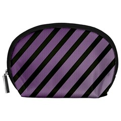 Purple Elegant Lines Accessory Pouches (large)  by Valentinaart