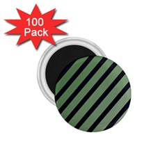 Green Elegant Lines 1 75  Magnets (100 Pack)  by Valentinaart