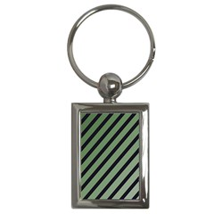 Green Elegant Lines Key Chains (rectangle)  by Valentinaart
