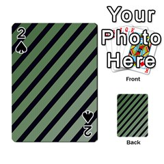 Green Elegant Lines Playing Cards 54 Designs  by Valentinaart
