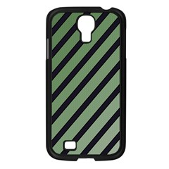 Green Elegant Lines Samsung Galaxy S4 I9500/ I9505 Case (black) by Valentinaart