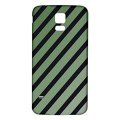 Green Elegant Lines Samsung Galaxy S5 Back Case (white) by Valentinaart