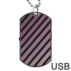Elegant Lines Dog Tag Usb Flash (one Side) by Valentinaart