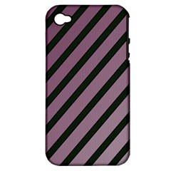 Elegant Lines Apple Iphone 4/4s Hardshell Case (pc+silicone) by Valentinaart