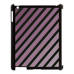 Elegant Lines Apple Ipad 3/4 Case (black) by Valentinaart