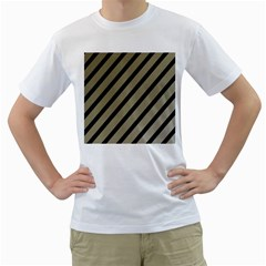 Decorative Elegant Lines Men s T-shirt (white) (two Sided) by Valentinaart