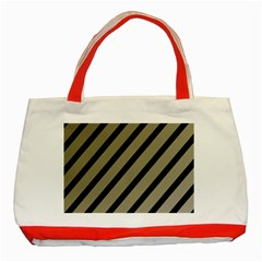 Decorative Elegant Lines Classic Tote Bag (red) by Valentinaart
