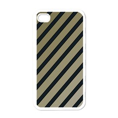 Decorative Elegant Lines Apple Iphone 4 Case (white) by Valentinaart