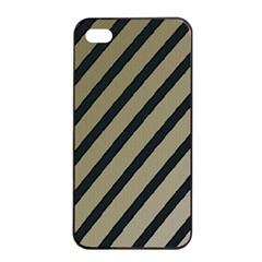 Decorative Elegant Lines Apple Iphone 4/4s Seamless Case (black)