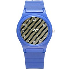 Decorative Elegant Lines Round Plastic Sport Watch (s) by Valentinaart