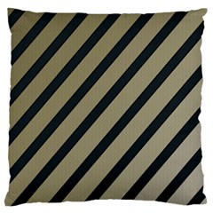 Decorative Elegant Lines Large Cushion Case (one Side) by Valentinaart