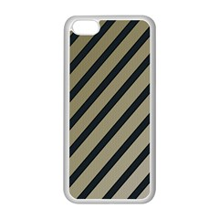 Decorative Elegant Lines Apple Iphone 5c Seamless Case (white) by Valentinaart