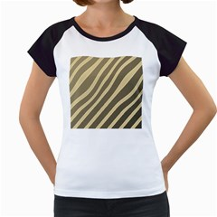 Golden Elegant Lines Women s Cap Sleeve T by Valentinaart